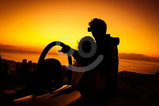 Buggy fahren bei Sonnenuntergang