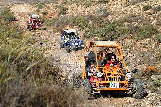 Driving offroad buggy in Fuerteventura