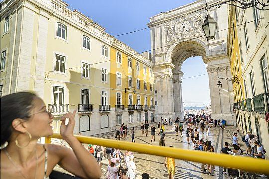 City sightseeing in Lisbon