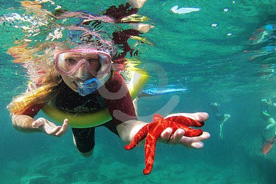 snorkel at La Manga