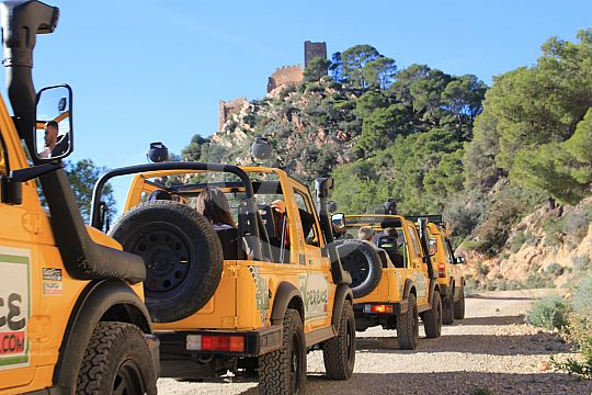 Safari with cabrio jeeps