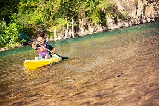 adventure at Sella descent by canoe