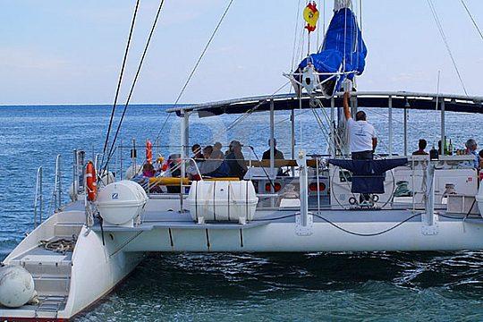 easily accessible catamaran