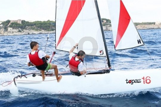 catamaran sailing in Mallorca