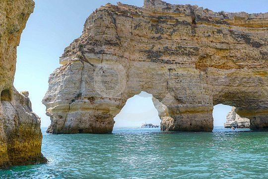 Rocks in the water of the Algarve