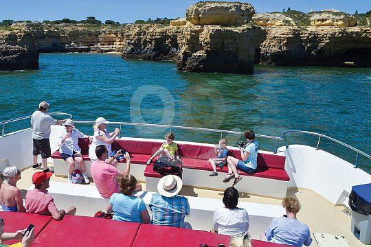 Catamaran with seats and sun deck