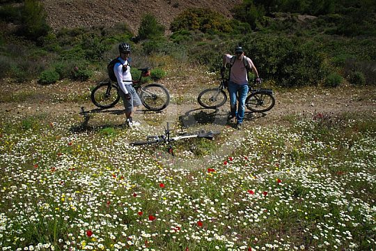 mountain biking in Sounio National Park near Athens