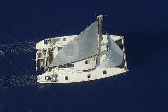 catamaran for up to 12 passengers