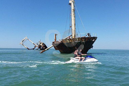 the sunken ship of Costa de la Luz
