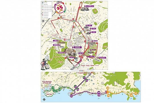 athens city sightseeing map with routes