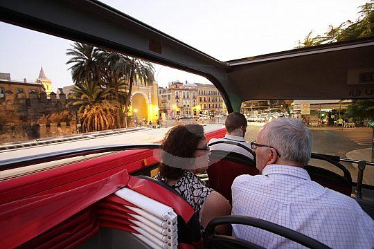 Seville round trip by bus