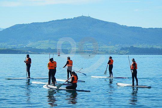 explore the bay of Santander while SUP