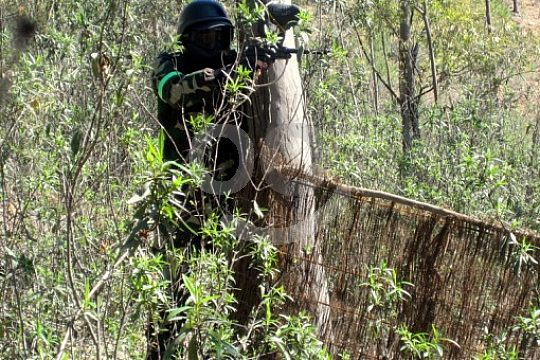 One hectare of Galician nature for paintball