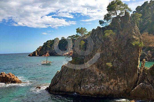 the coast of Costa Brava
