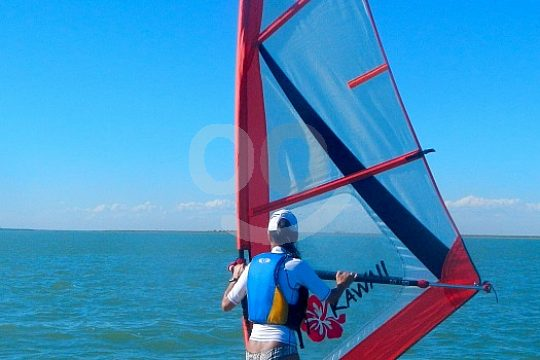 ideal conditions at the windsurf course in Sanlucar