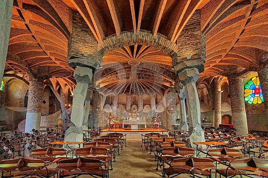 crypt of Gaudi in Barcelona