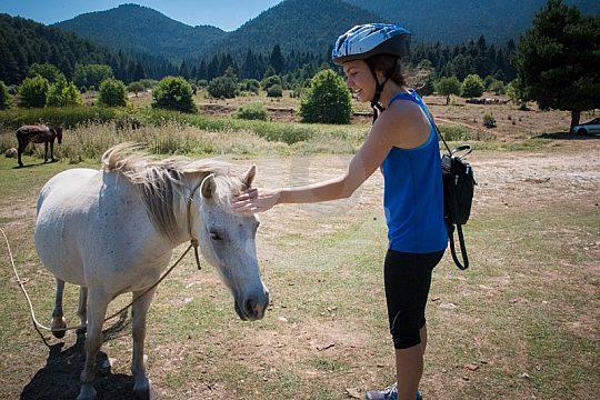animal encounter bicycle tour Lake Doxa