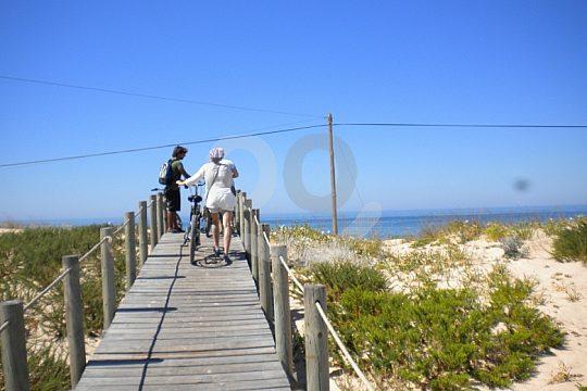 Cycling tour Algarve group enjoys view