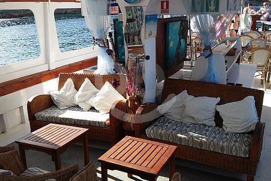 comfortable seating on board