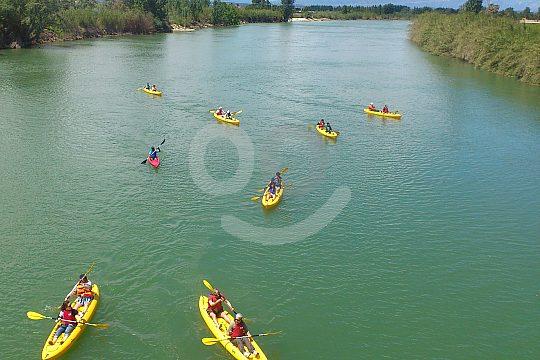 go kayaking on Ebro river