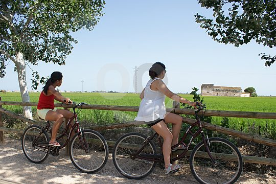 rent a bike at Ebro Delta