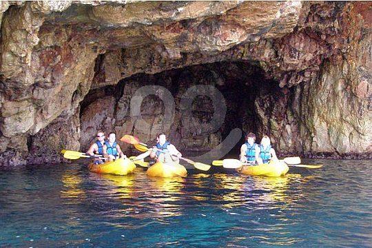 Dénia kayak tour to a sea cave