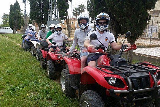 group at quad biking in Denia