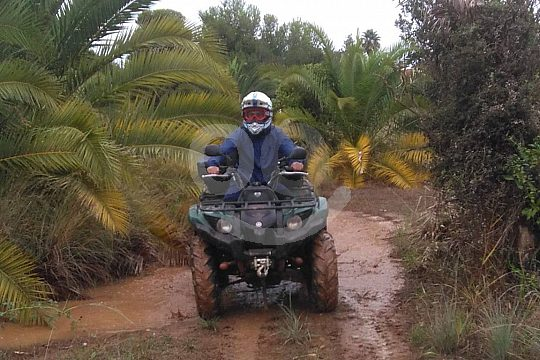 with the ATV over all terrains