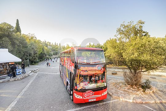 sightseeing tour by bus in Athens