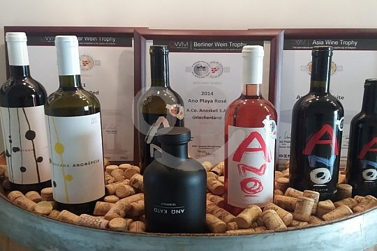 Wine tasting during Jeep Safari from Chania