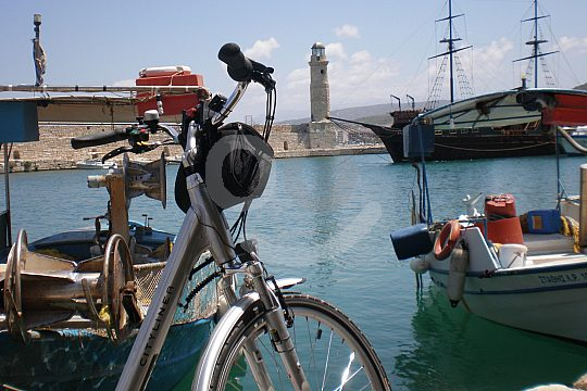 Rethymno harbour tour by bike