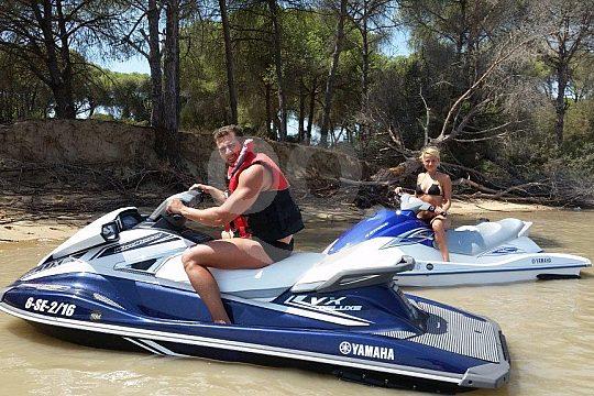 go by jetski to Doñana Natural Park