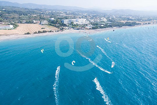 Water sports centre on the beach of Theologos