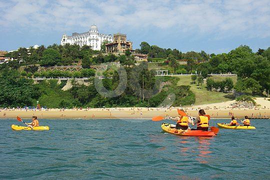 kayaking in the bay of Santander