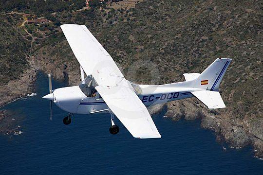 Costa Brava flight in a light aircraft