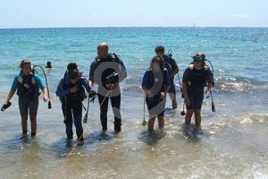 getting back from the first scuba dive experience