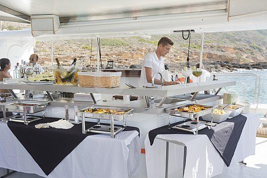Dinner served on board