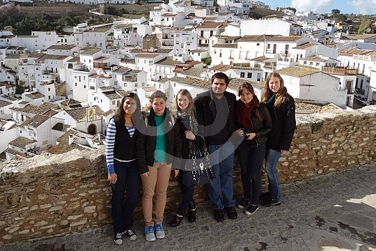 exploring white village in Andalusia