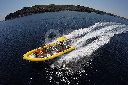 speedboat tour in Mallorca from Mahón