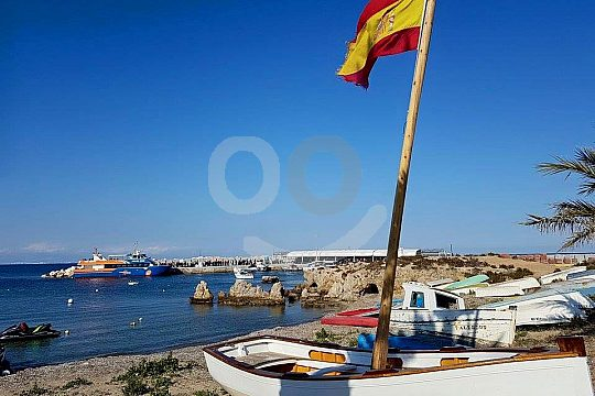 harbour of island Tabarca by boat