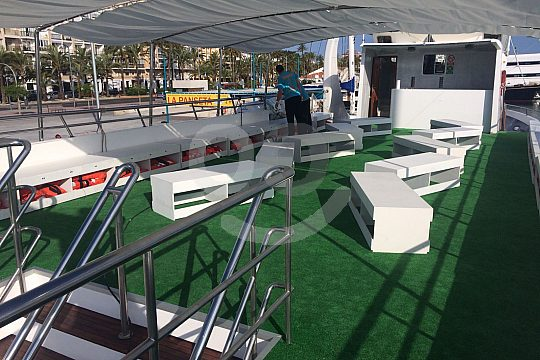Catamaran deck Altea-Calpe