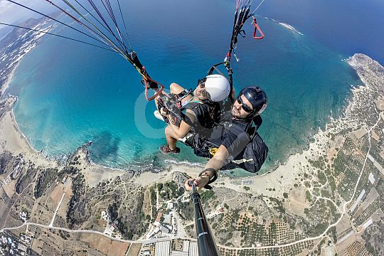 paragliding from Chania or Heraklion