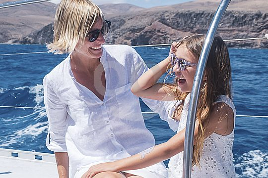 Familien-Bootstour mit Lanzarote Katamaran