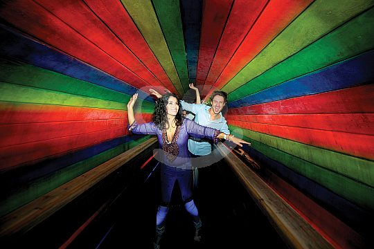 Colour tunnel Katmandu Park Majorca