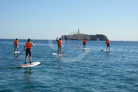 island Mouro SUP class in Santander