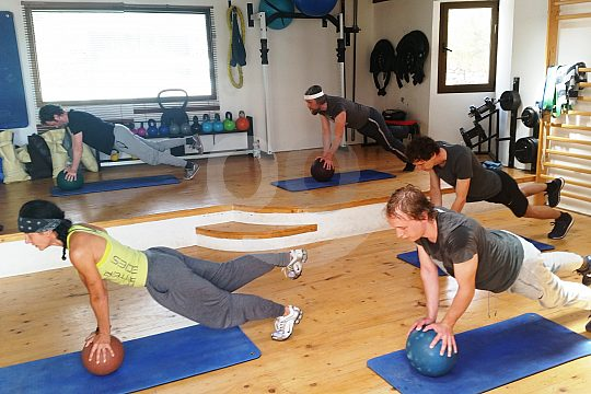 exercises at fitness course