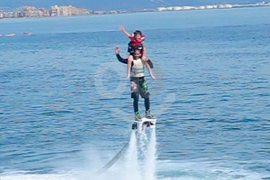 child on the flyboard