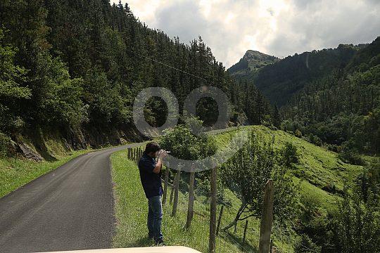 Mountain road in the Penas de Aya Nature Park