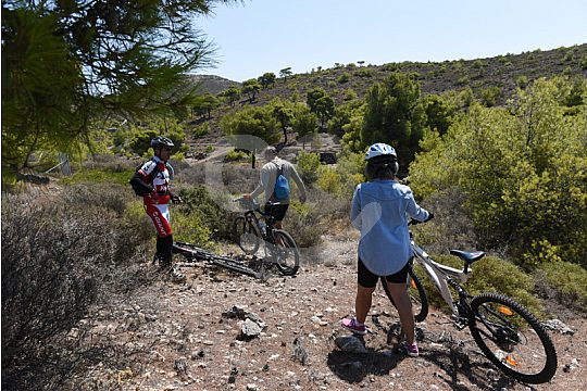exploration tour with mountain bikes near Lavrio