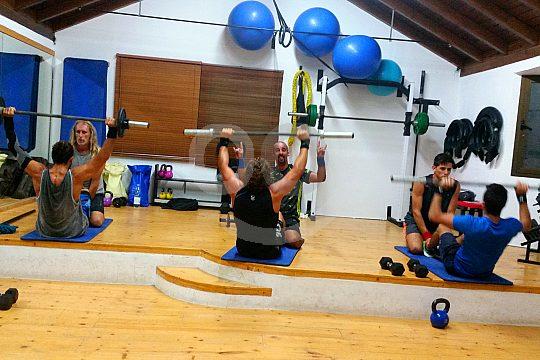 Fitness training in La Oliva